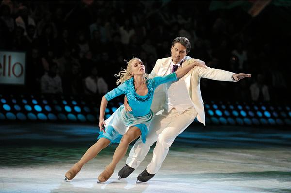 В проекте «Лед и пламень» Лобачева участвовала в паре с Денисом Матросовым