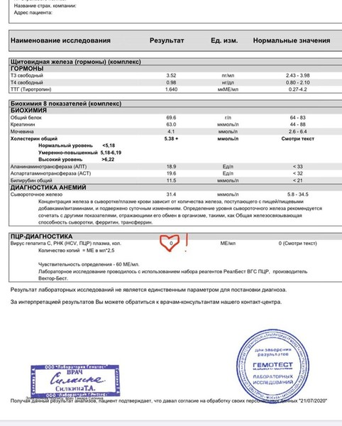 Екатерина Волкова победила гепатит