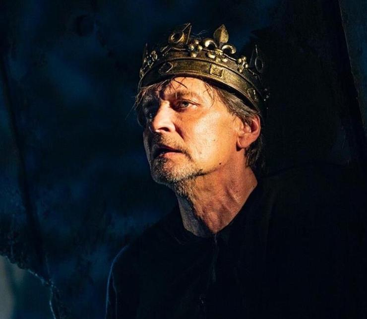 Актер в роли Ричарда III в одноименном спектакле