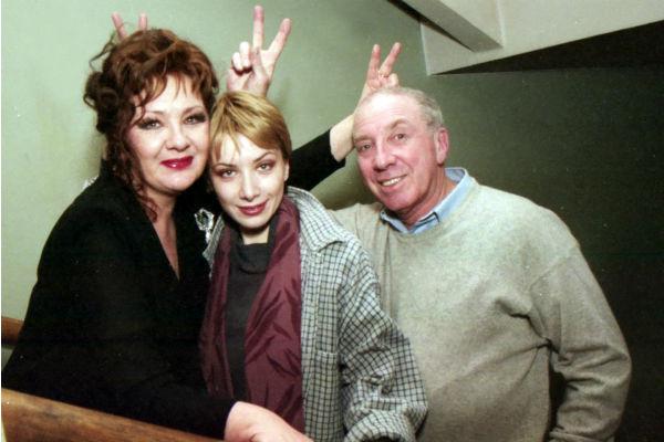 Сергей Юрский с женой и дочерью