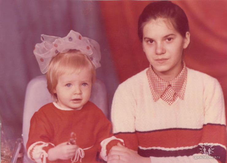 Дарья со старшей сестрой