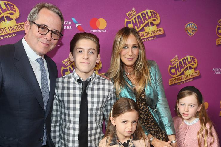 Сара Джессика Паркер с мужем Мэттью Бродериком и детьми
