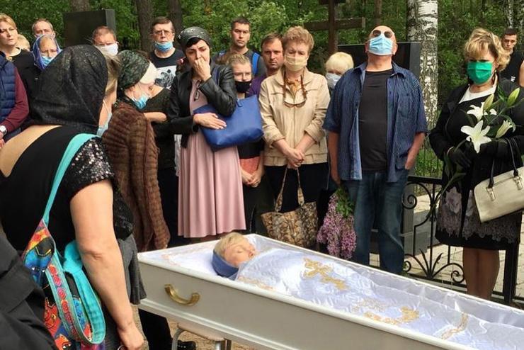 На похоронах Юлии присутствовали только самые близкие друзья и родственники