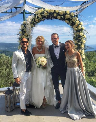 Анна Хилькевич, ее супруг и жених с невестой