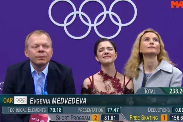 Евгения Медведева с тренером Этери Тутберидзе