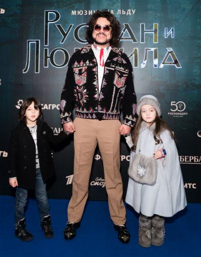 Филипп Киркоров с детьми Аллой-Викторией и Мартином