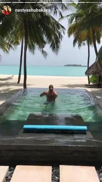 Супруги уехали на Мальдивские острова