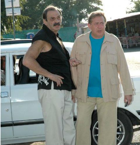 Илья Олейников и Юрий Стоянов в 2006 году - на «Кинотавре»