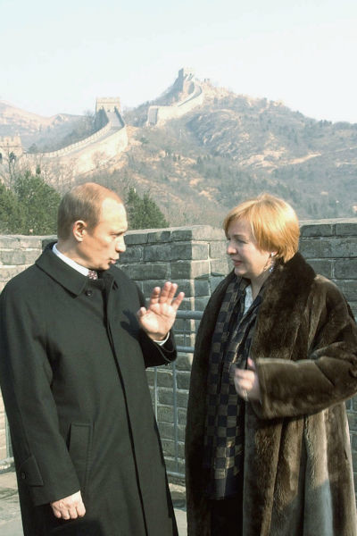 Владимир Путин с супругой во время путешествия в Китай