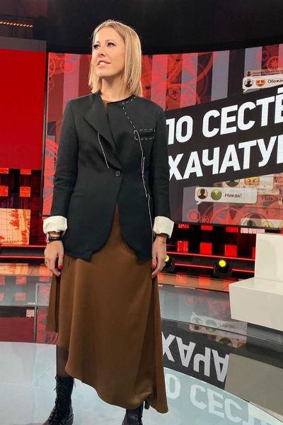 Ксения давно мечтала поработать на Первом канале