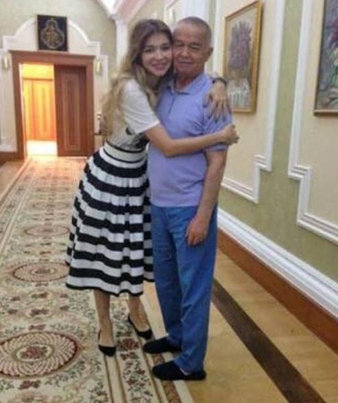 Гульнара Каримова с отцом