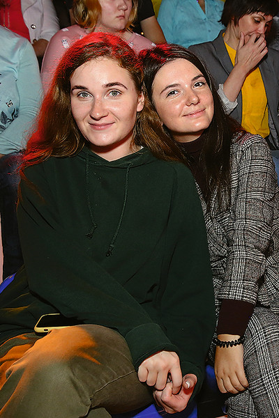Алина Янина и Мария Левина в студии программы «Привет, Андрей!»