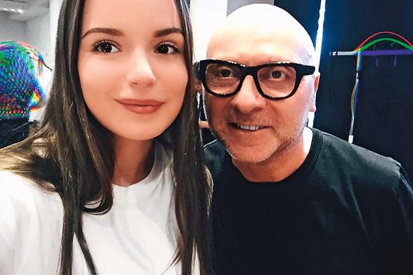 Саша с Доменико Дольче