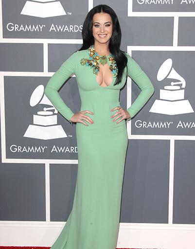 Кэти Перри в Gucci на Grammy в феврале 2013 года