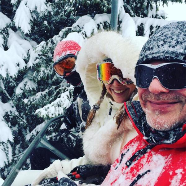 Подольская и Пресняков - семья горнолыжников