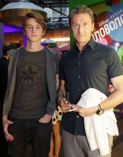 Александр Чистяков с сыном