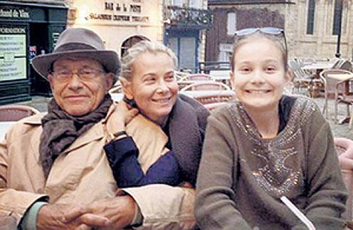 Андрей Кончаловский, Юлия Высоцкая и их дочь Мария