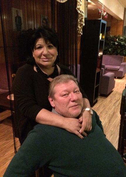 Ганна Слуцки вместе с супругом