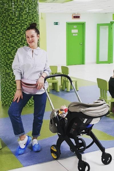 Наталия наслаждается материнством