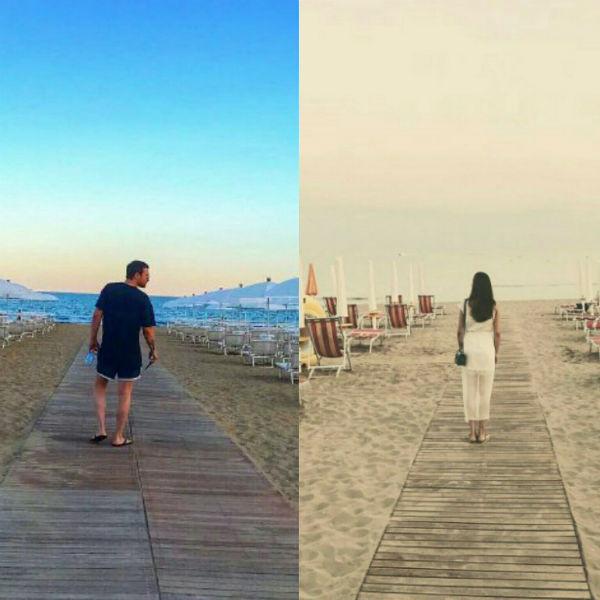 Алексей и Агния делают идентичные кадры