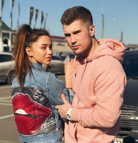 Роман Гриценко и его девушка Евгения
