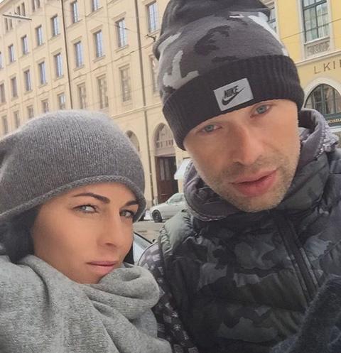 Василий Березуцкий с женой Ольгой