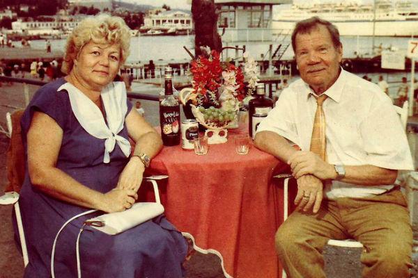 Михаил Пуговкин с третьей женой Ириной
