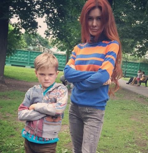 Николь Кузнецова с сыном Егором