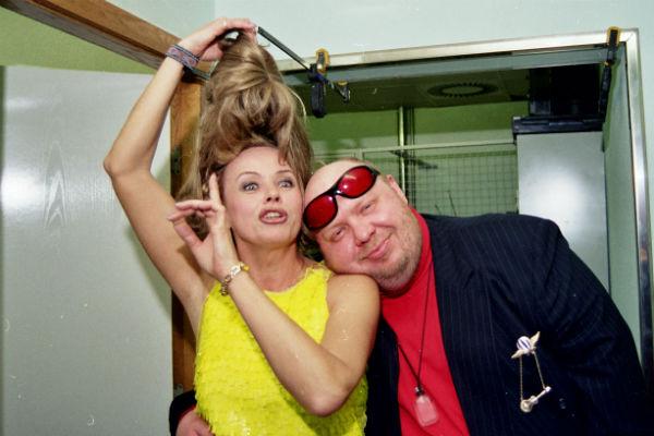 Популярность Сергею принесла песня «Девочка моя». На фото – с Еленой Пресняковой, 2000 год
