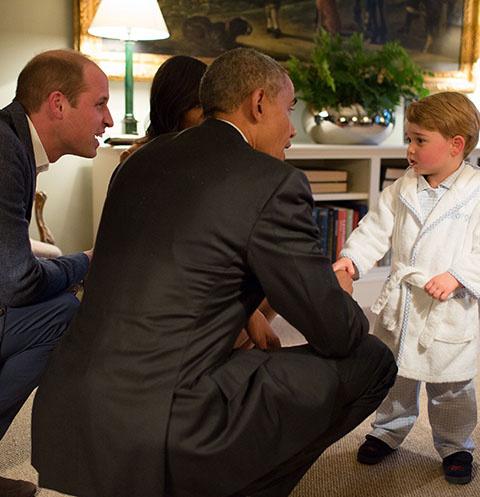 Принц Георг и Барак Обама обменялись рукопожатием