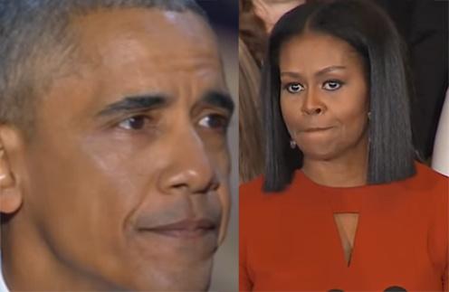 Барак и Мишель не смогли сдержать слез