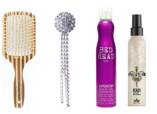 Healthy hair Расческа, Lady Collection Украшение для волос, Bed Head by Tigi Средство для прикорневого объема Superstar, STRUCTURE Текстурирующий спрей для волос Beach