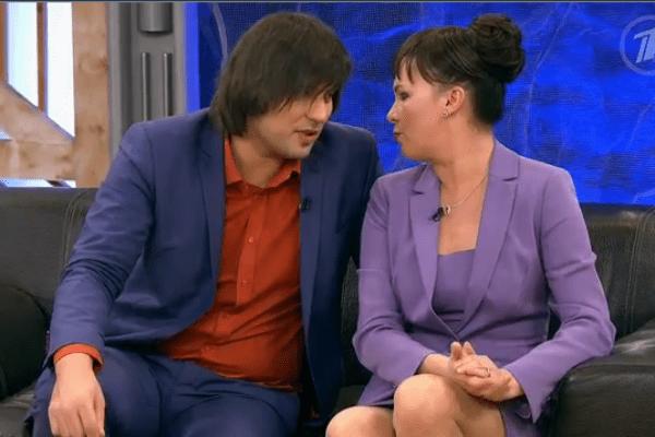 Бари Алибасов-младший с женщиной Верой, которую впоследствии продюсер признал своей дочерью