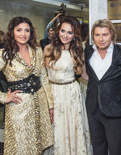Певица Жасмин и Николай Басков с подругой Софи