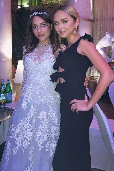 Стефания Маликова одной из первых поздравила невесту