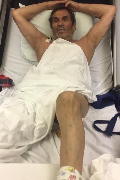 Бари провел в больнице примерно две недели