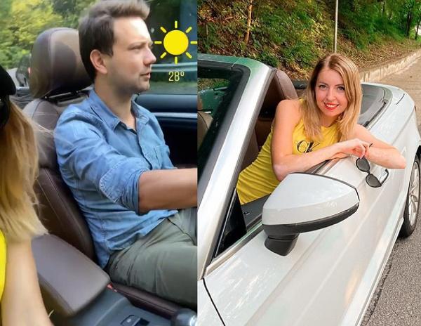 Пара отправилась в поездку на комфортабельном авто