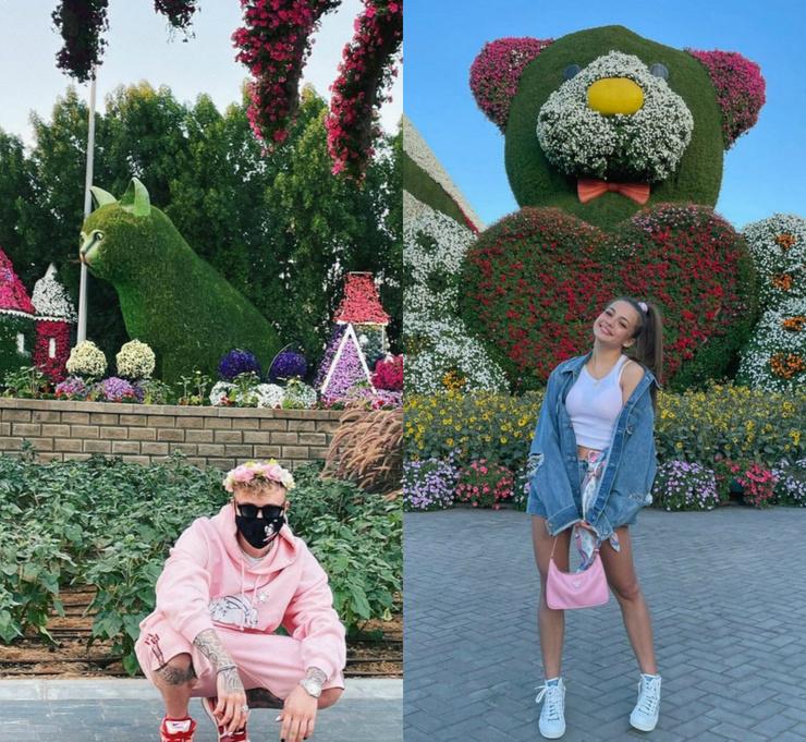 Пара наслаждается отдыхом в Дубае