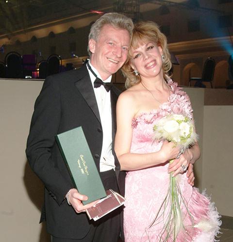 Любовь Казарновская с супругом