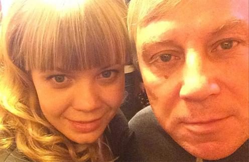 Алла Михеева с папой Андреем Алексеевичем