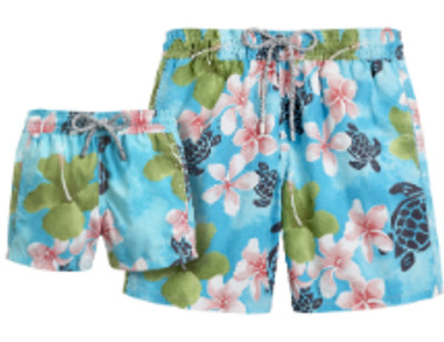 Не разлей вода: Пляжные шорты для папы и сына