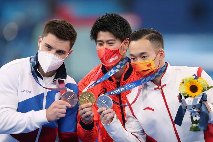 Никита Нагорный получил три медали на этой Олимпиаде