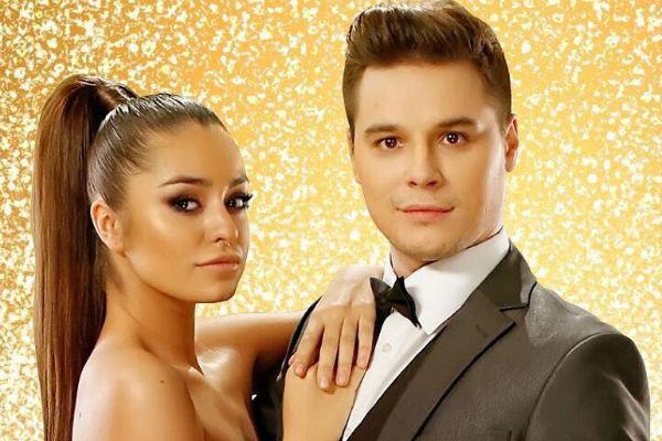 Юлия с партнером по шоу «Танцы со звездами»