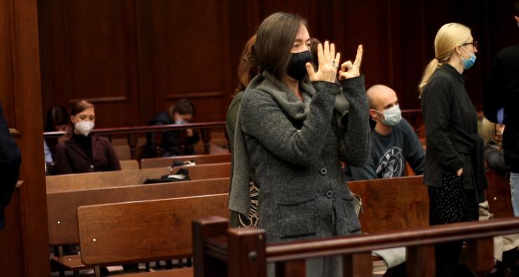 Софья поддерживала мужа на судебных заседаниях