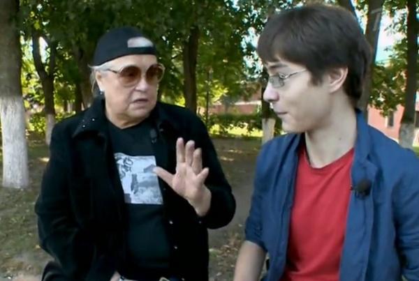 Лидия Федосеева-Шукшина с внуком Василием Шукшиным-младшим