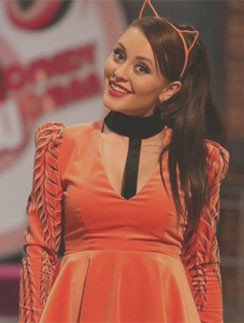 Мария Кравченко на съемках Comedy Woman
