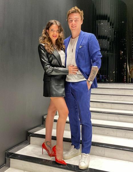 Катя Жужа с мужем