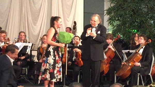 Екатерина Цуканова на одном из концертов