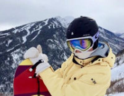 Марика покоряет горнолыжные склоны Аспена