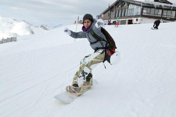 Ромади давно увлекается сноубордингом